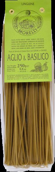 Linguine - Bandnudeln Knoblauch und Basilico 250g