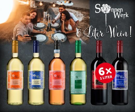 6 Liter Wein!